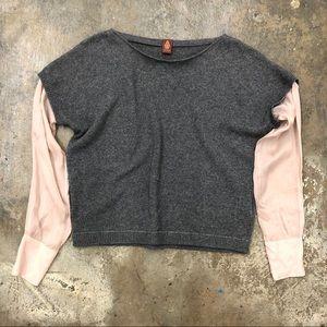 Dondup Sweater Shirt Combo Cashmere Merino Wool S